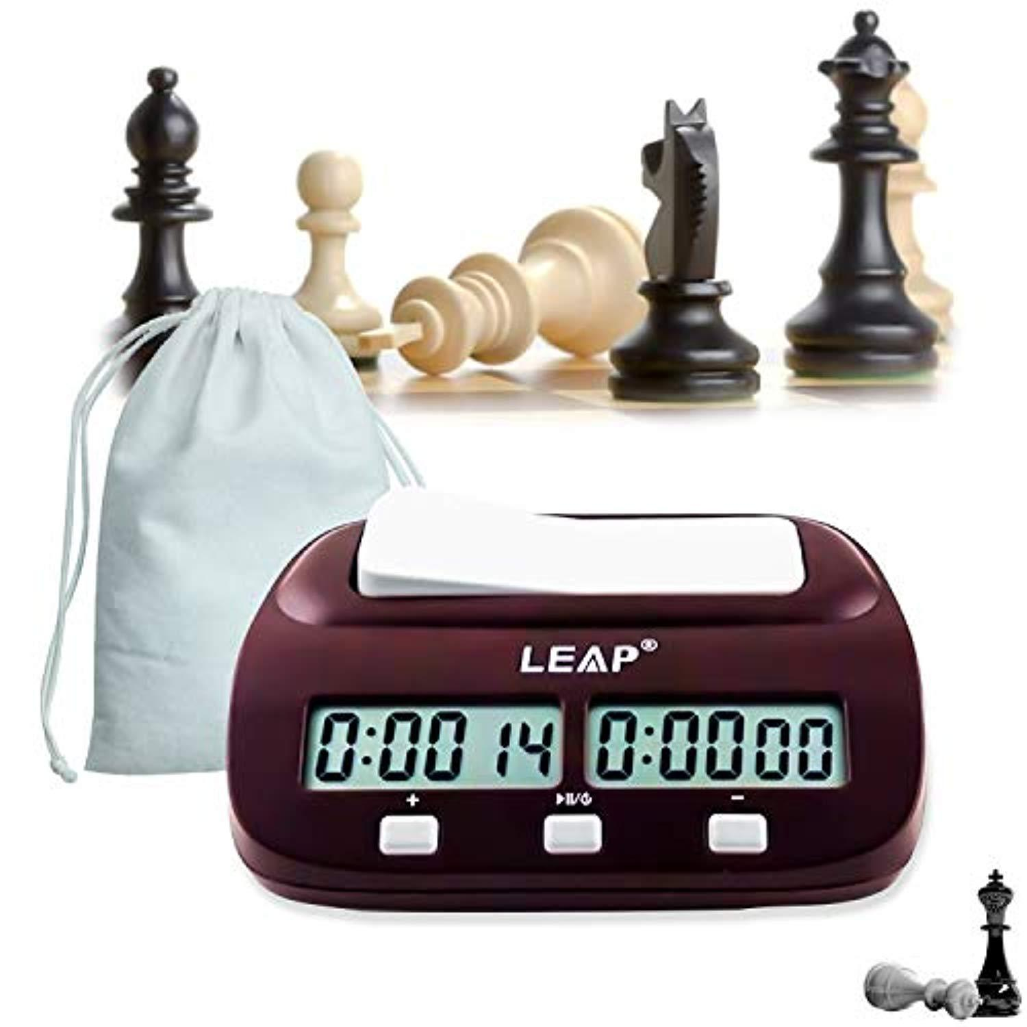 Compact Digital Chess Clock Count Up Down Timer Electronic Board Game Player Set