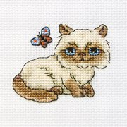 "Fluffy Baksie Counted Cross Stitch Kit-3.25""X3.25"" 14 Count"