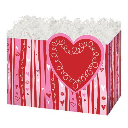 Burton & Burton Swirly Hearts Box, Small, Set Of 3