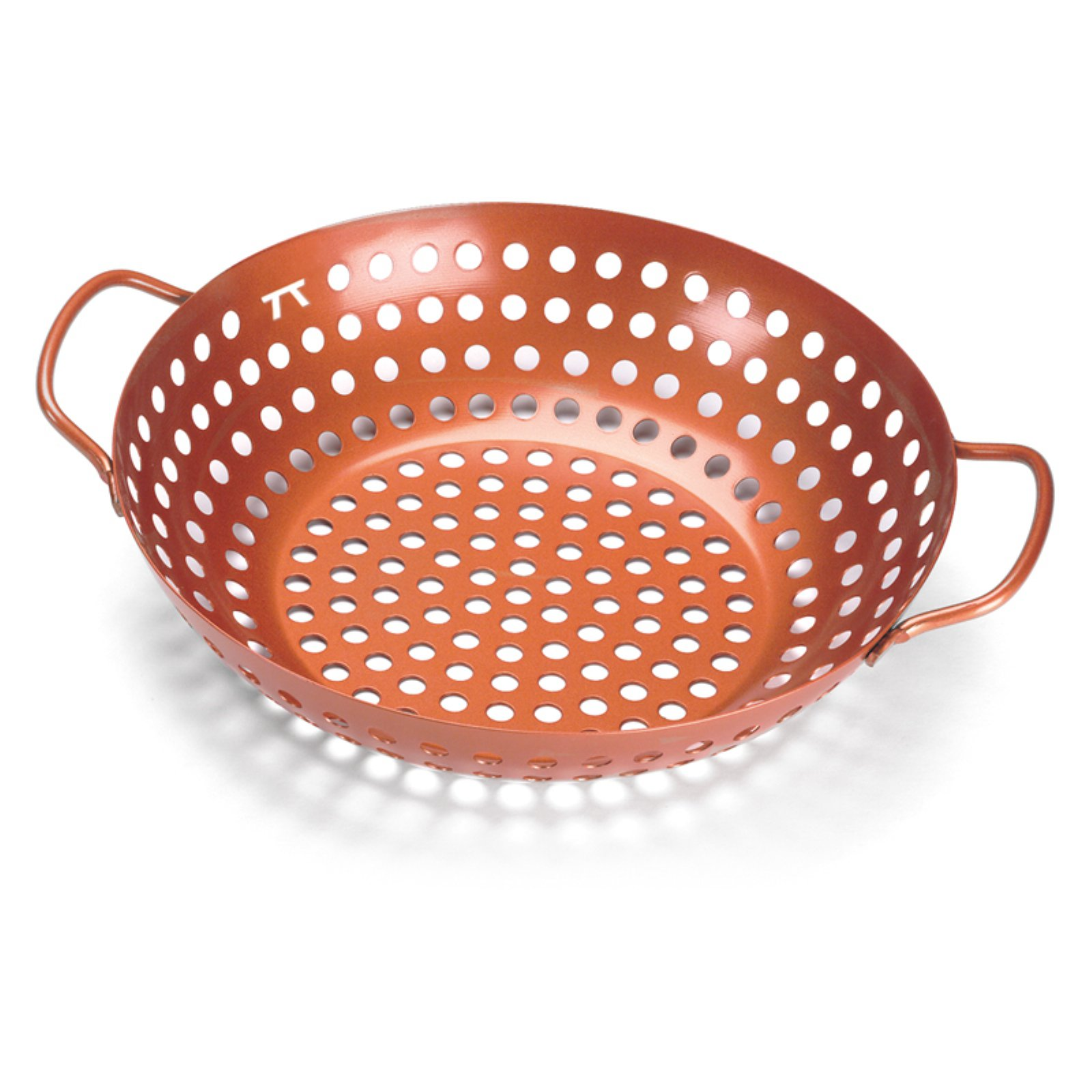Outset Round Copper Non-Stick Grill Wok
