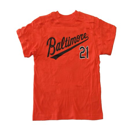 Mlb Little Boys Orange Baltimore 21 Short Sleeve Shirt