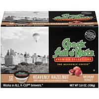 Chock full o'Nuts Heavenly Hazelnut K-Cup Coffee Pods, Medium Roast, 12 Count Box