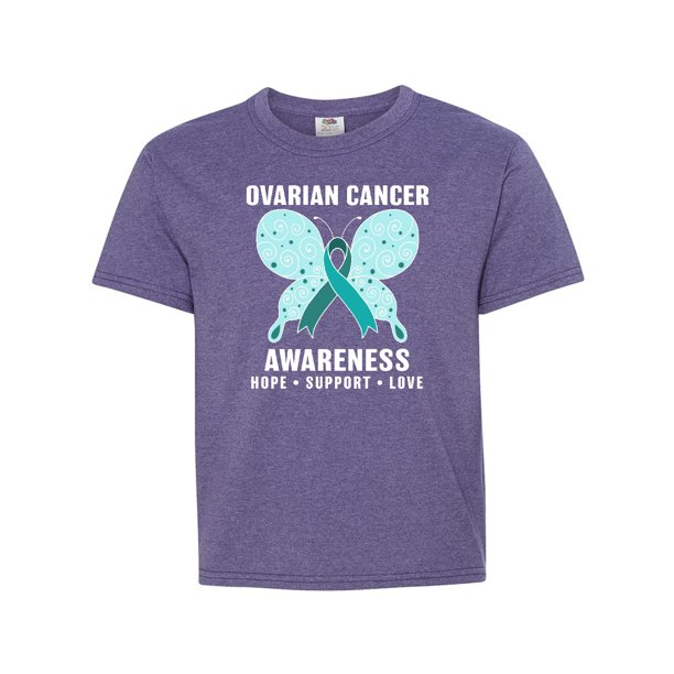 Ovarian Cancer Awareness Hope Support And Love Youth T Shirt Walmart Com Walmart Com