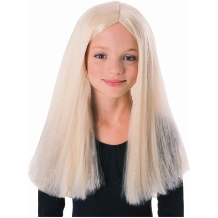 Kids Childrens Costume Long Blonde Straight Witch or Vampire Wig