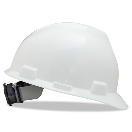 MSA V-Gard Hard Hats, Ratchet Suspension, Size 6 1/2 - 8, White -MSA475358](Hard Hats For Children)