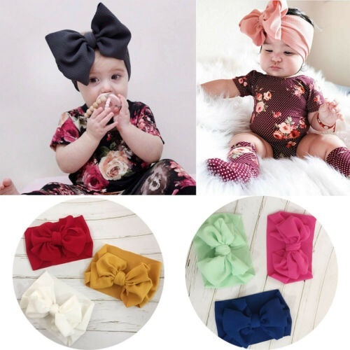 Wraps Baby Kids Parent-child Hair Bow Headband Hair Clips Headwear Set