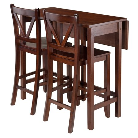 Lynnwood 3-Pc Drop Leaf Table with 2 Counter V-Back Stools ()