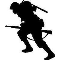 G.I. Joe in Ready Combat War Action Military Soldier Boy Home Decor Bedroom Sticker - Vinyl Wall Decal 16x24""