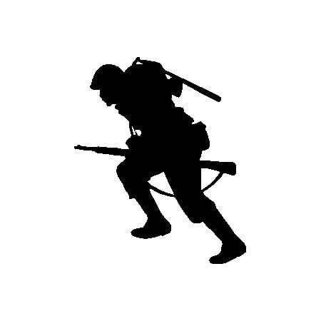 Custom Wall Decal G.I. Joe in Ready Combat War Action Military Soldier Boy Home Decor Bedroom Sticker - Vinyl Wall Decal 16x24