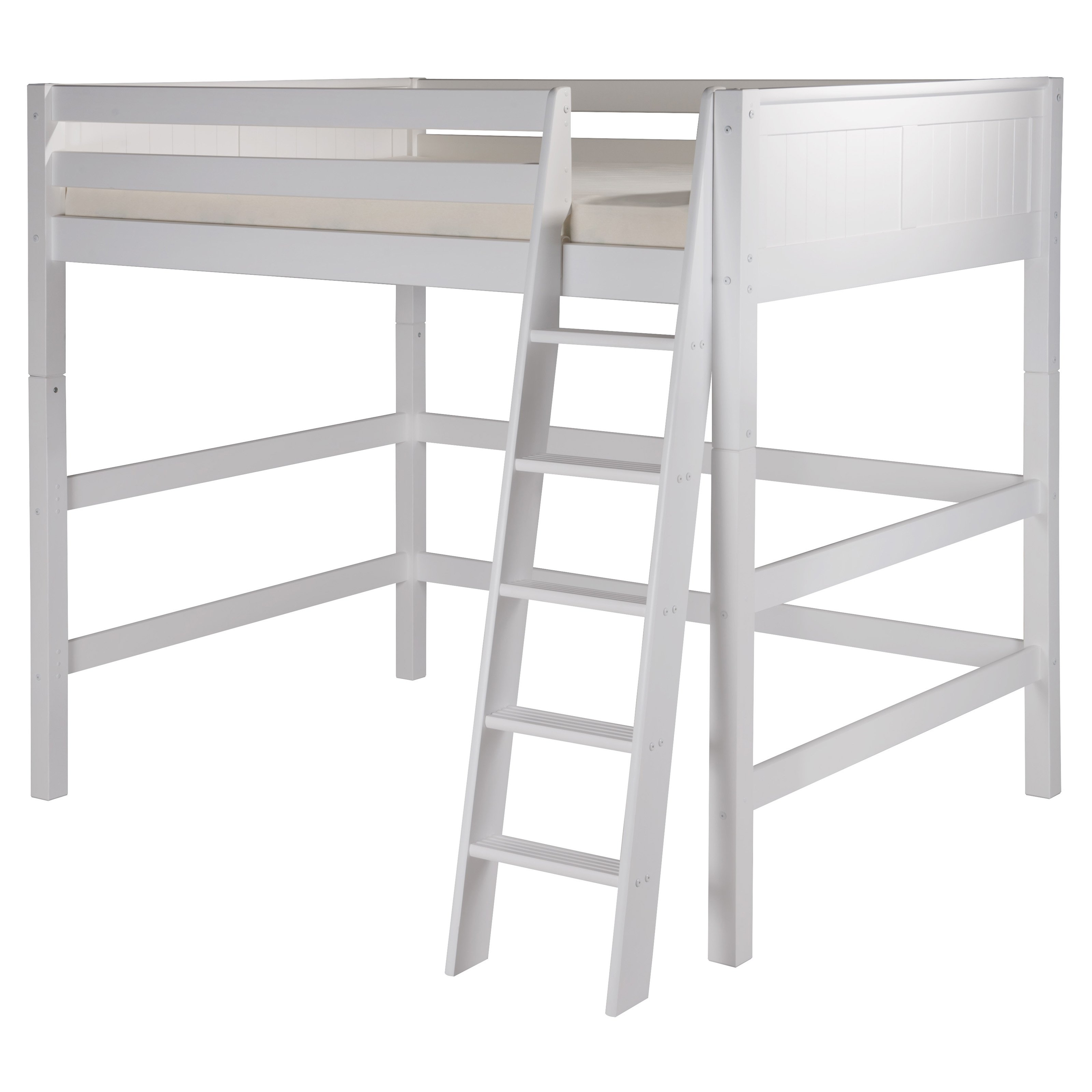 80.5 in. Eco-Friendly High Loft Bed with Panel Headboard