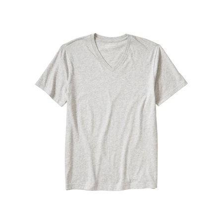 Banana Republic Men's Premium-Wash V Neck Tee (Large, Grey) Banana Republic Long Sleeve Shirt