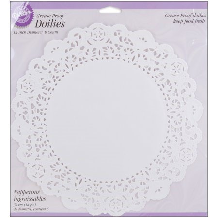 Wilton 12-Inch Doilies, White, - Cake Doilies Paper