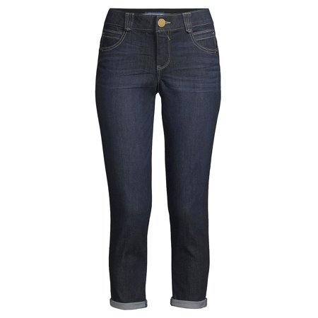 Cropped Mid-Rise Jeans