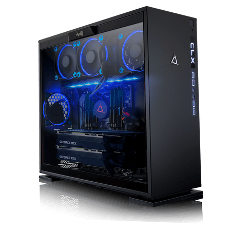 CLX Set GAMING PC AMD Ryzen Threadripper 2950X 3.50GHz (16 Cores) 32GB DDR4 6TB HDD & 960GB SSD Dual NVIDIA RTX 2080 Ti 11GB GDDR6 in SLI MS Windows 10 (Sli Ready Dual Channel)