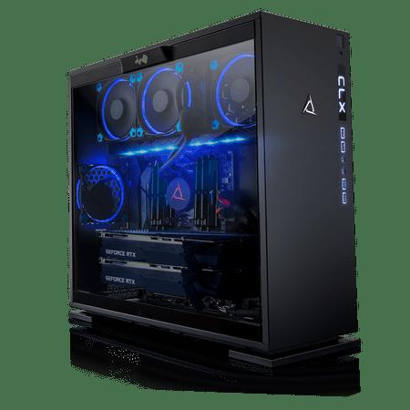 CLX Set GAMING PC AMD Ryzen Threadripper 2950X 3 50GHz (16 Cores) 32GB DDR4  6TB HDD & 960GB SSD Dual NVIDIA RTX 2080 Ti 11GB GDDR6 in SLI MS Windows
