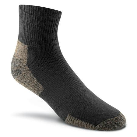 Fox River Work Men`s Medium weight Quarter Crew Socks, Medium, Black
