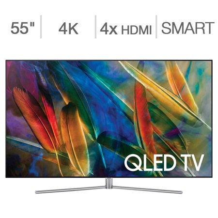 Refurbished Samsung 55u0022 Class 4K Ultra HD (2160P) Smart QLED TV (QN55Q75FMFXZA)