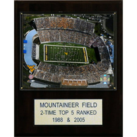 C&I Collectables NCAA Football 12x15 Mountaineer Field at Milan Pusker Stadium Stadium Plaque