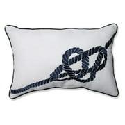 Pillow Perfect Embroidered Nautical Knot Rectangular Corded Throw Pillow