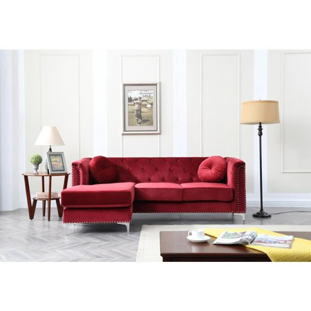 Glory Furniture Pompano G789b Sc Sofa Sectional Burgundy Walmart Com