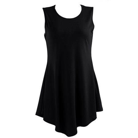 23cec000d3731 HDE - HDE Women's Flare Tunic Tank Top Summer Sleeveless Handkerchief Hem  Shirt (Black, X-Large) - Walmart.com
