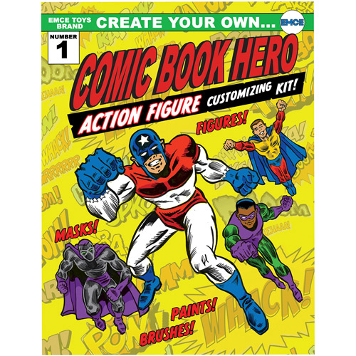 Create Your Own Comic Book Hero Action Figure Customizing Kit by Fourth Castle