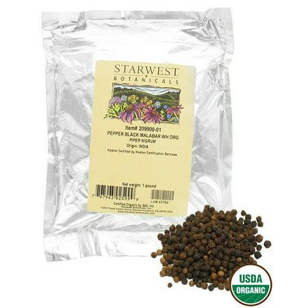 Starwest Botanicals - Bulk Malabar Black Pepper Whole Organic - 1 lb. ()