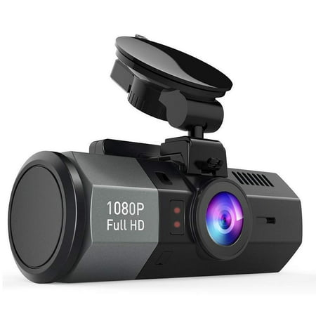 Crosstour Dashcam 1080P FHD DVR Car Dashboard Camera Video Recorder for Cars 170° Wide Angle WDR with 2 inch LCD, Night Vision,Motion Detection, Loop Recording and G-Sensor