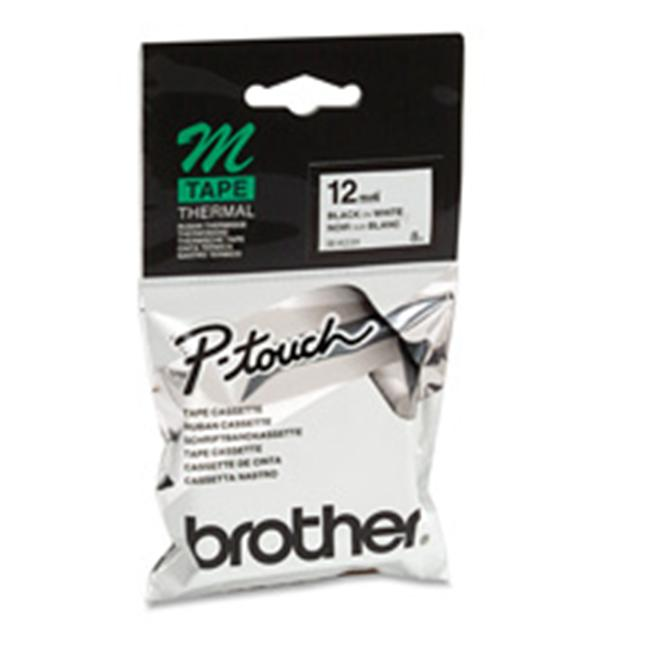 Brother International Corp. BRTMK233 Non laminated Lettering Tape- .50in. Size- Blue-White