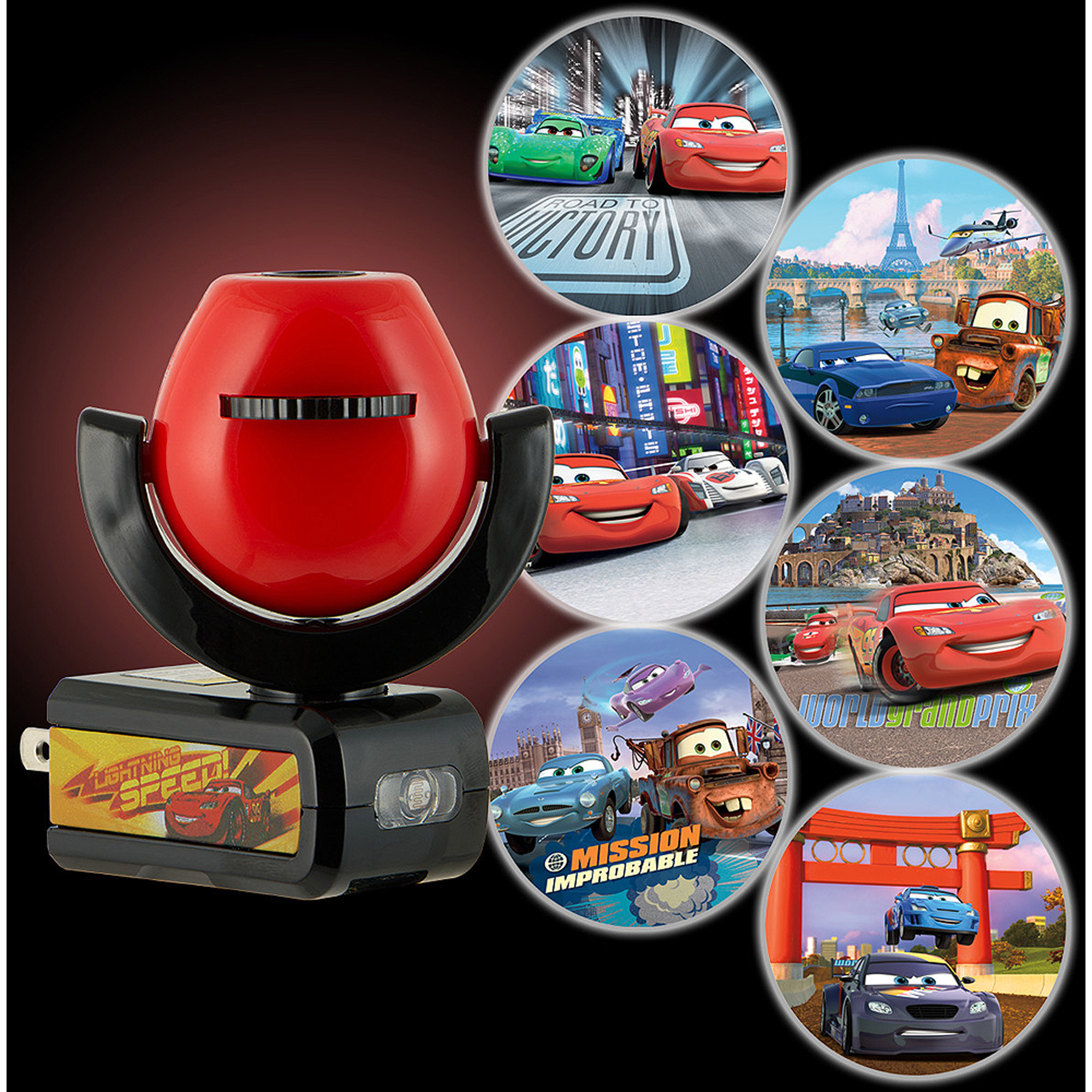 "Nightlight, Plug "" LED 6 Image Projectable, Pixar Cars, Auto"