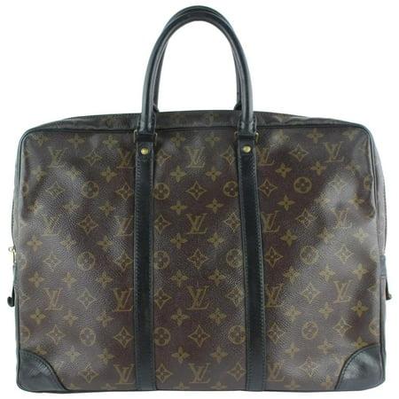84f818a0 Louis Vuitton - PRE-OWNED Porte Monogram Porte-documents Voyage ...