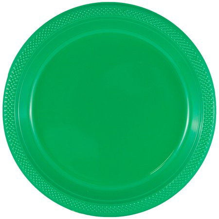 JAM Paper Round Plastic Party Plates - Medium - 9 - Green - 20/pack](Paper Plates And Plastic Cutlery)