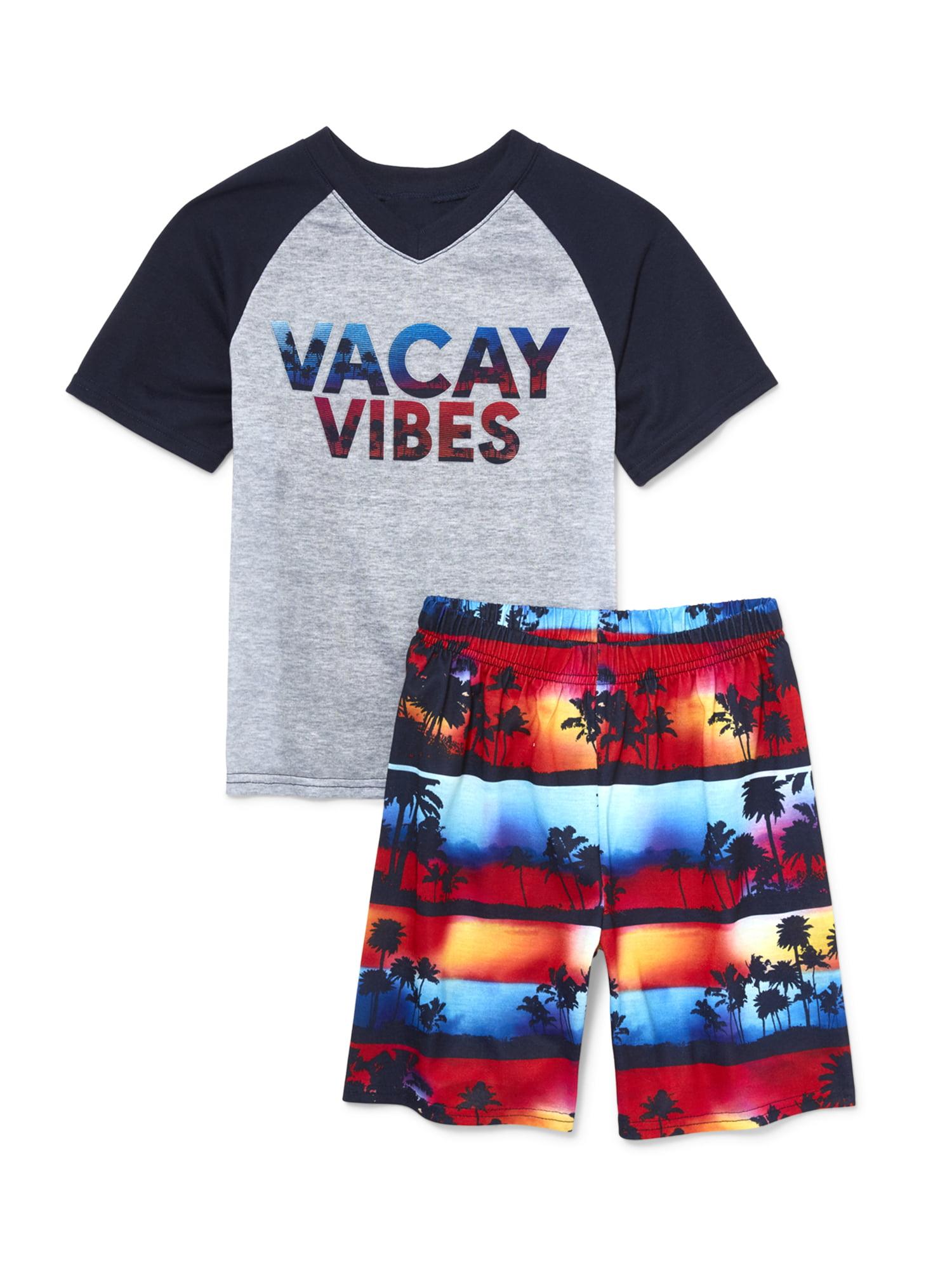 Boys' Vacation 2 Piece Pajama Sleep Set (Little Boy & Big Boy)