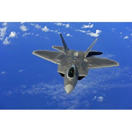 February 16 2010   A Us Air Force F 22 Raptor In Flight Near Guam Poster Print