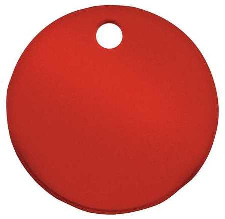 CH HANSON 43013 Blank Tag, Round, Red, PK 5