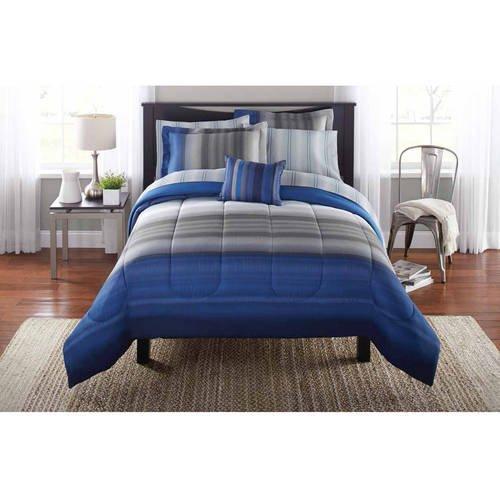 Mainstays Queen Ombre Bed In A Bag, Ombre Bedding Set Queen