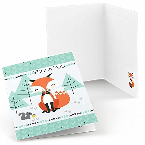Mr. Foxy Fox - Baby Shower or Birthday Party Thank You Cards (8 count)