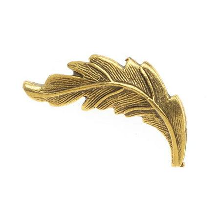 Rings Leaf Clasp - Nunn Design Antiqued 24kt Gold Plated  Leaf Toggle Clasp Bar 25mm (1)