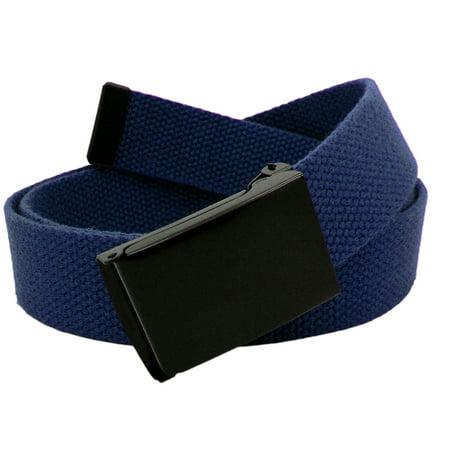 Boy's Cub Scout Uniform Belt with Black Flip Top Buckle and Adjustable Navy Web Belt Small