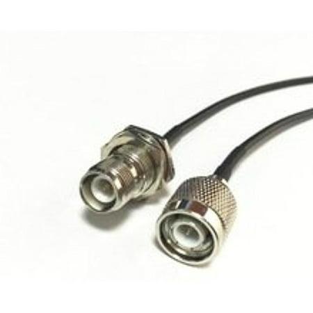 - TNC Male Plug Switch RP-TNC Female bulkhead pigtail cable RG174 20CM 8