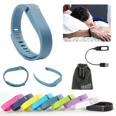 EEEKit 2 In 1 Kit For Fitbit Flex Wireless Activity Sleep Wristband, Replacement Wrist Band Clasp, Usb Charging