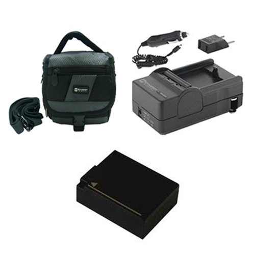 Panasonic Lumix DMC-FZ1000 Digital Camera Accessory Kit includes: SDDMWBLC12 Battery, SDM-1537 Charger, SDC-27 Case