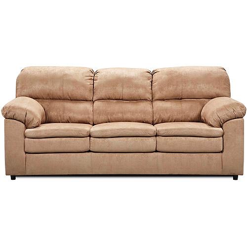 Simmons Upholstery Queen Size Sleeper Sofa Tan Microfiber Walmart
