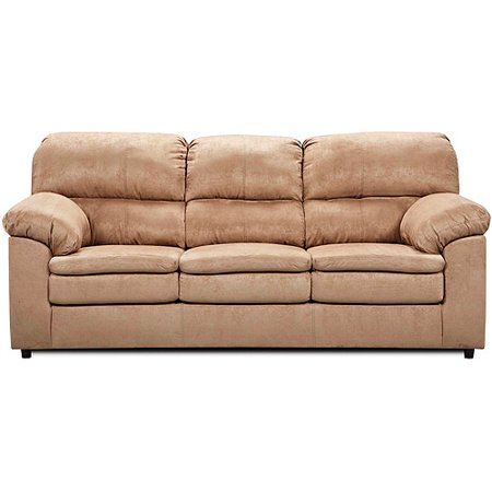 Simmons Upholstery Queen Size Sleeper Sofa Tan Microfiber