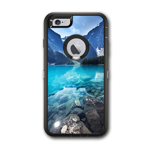 Skin Decal For Otterbox Defender Iphone 6 Plus Case / Mountain Lake, Clear Water