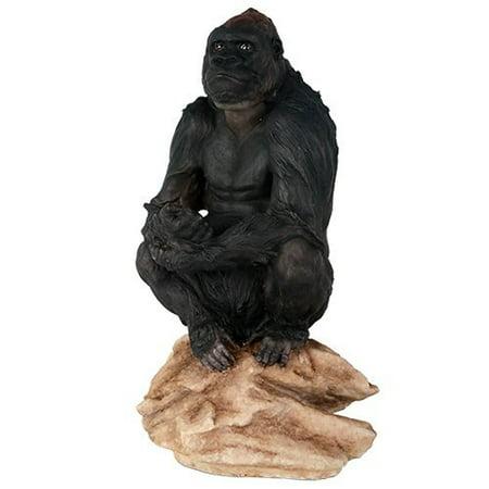 Lowland Gorilla Herbivorous Ape Wildlife Endangered Collectible Figurine Statue Decor Gift - Endangered Wildlife Animals