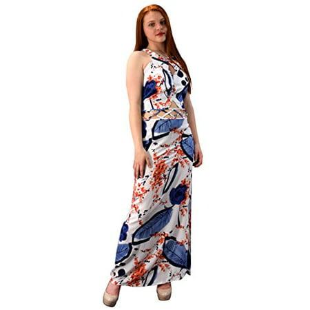 e562f81d425ca Peach Couture Floral Print Cut Out Waist Side Slit Crochet Tie Back Maxi  Dress