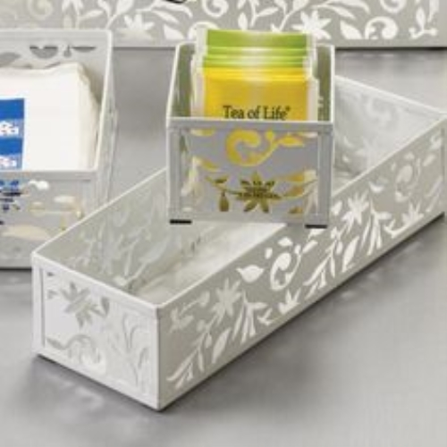 Design Ideas Vinea Storage Drawer, 3 by 6-Inch, White