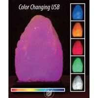 ALOHA BAY Salt Lamp 5 Color Changing with USB 1 CT, Pack of 2