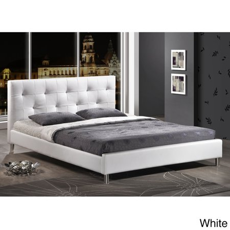 Barbara Modern Full Size Crystal Button Tufted Bed
